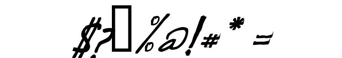 de Manu 1  MediumItalic Font OTHER CHARS