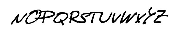 de Manu 1  MediumItalic Font UPPERCASE