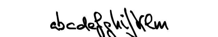 de Manu 1 Medium Font LOWERCASE