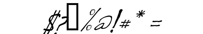 de Manu 1 NormalItalic Font OTHER CHARS