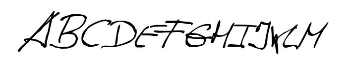 de Manu 1 NormalItalic Font UPPERCASE