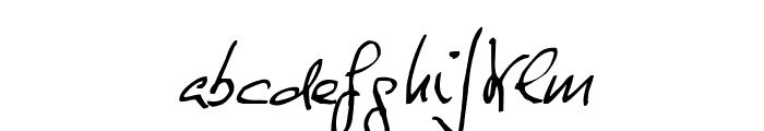 de Manu 1 NormalItalic Font LOWERCASE