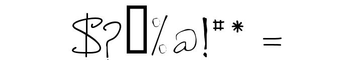 de Manu 2 Font OTHER CHARS