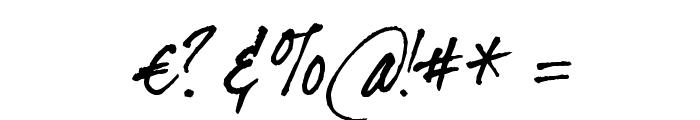 dearJoe II Font OTHER CHARS
