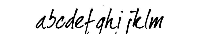 dearJoe II Font LOWERCASE
