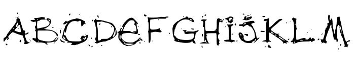 debfuzzy Font UPPERCASE