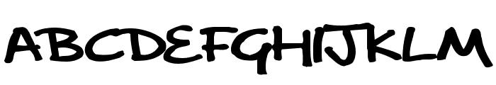 delargeMarkerPenv2 Font LOWERCASE