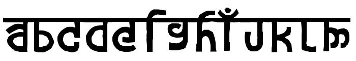devanagarish Font UPPERCASE