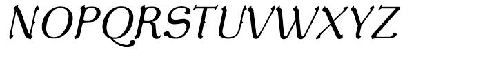 De Gama Light Italic Font UPPERCASE