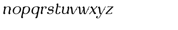 De Gama Light Italic Font LOWERCASE