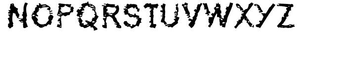 De-Generation Regular Font UPPERCASE