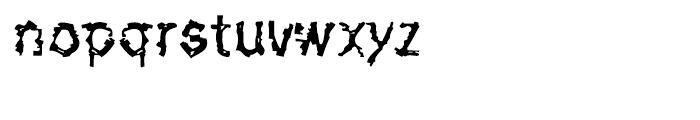 De-Generation Regular Font LOWERCASE