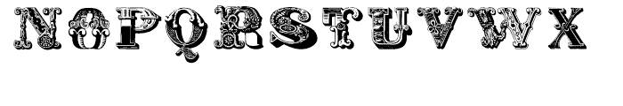 Decadence avec Elegance Two Regular Font UPPERCASE