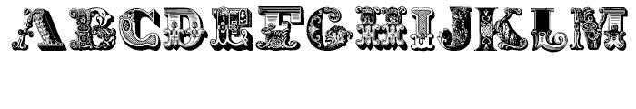 Decadence avec EleganceRegular Font LOWERCASE