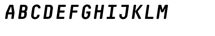 Decima Mono R Bold Italic Font UPPERCASE