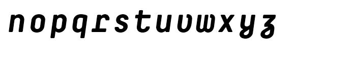 Decima Mono R Bold Italic Font LOWERCASE