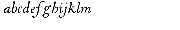 Decimosexto NF Italic Font LOWERCASE