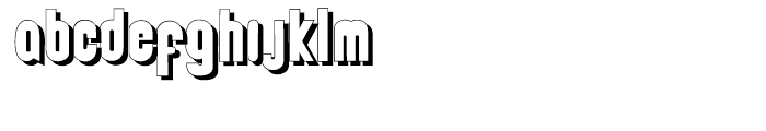Deco Experiment 6 Shadow Font LOWERCASE