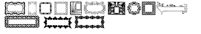 Decorative Boxes Regular Font UPPERCASE