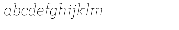 Decour Soft Thin Italic Font LOWERCASE