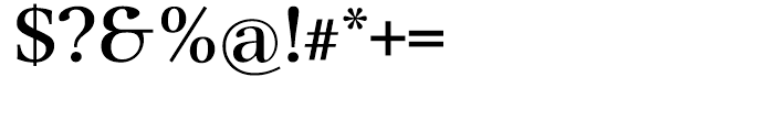 Dedica Regular Font OTHER CHARS