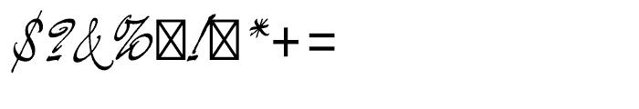 Demian Regular Font OTHER CHARS