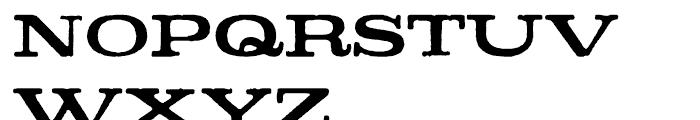 Denim Bold Font UPPERCASE