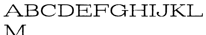 Denim Book Font UPPERCASE