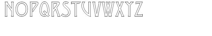 Desdemona Regular MST Font UPPERCASE