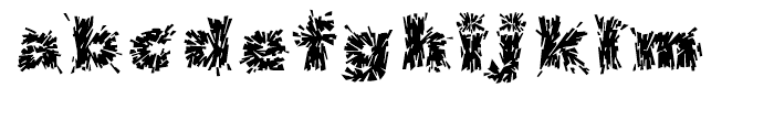 Destroya Regular Font LOWERCASE