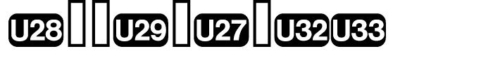 Deutsche Bahn AG Pi Five Font OTHER CHARS