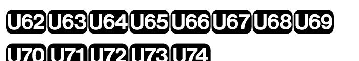 Deutsche Bahn AG Pi Five Font UPPERCASE