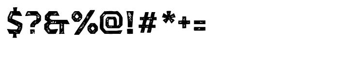 Dever Serif Print Bold Font OTHER CHARS