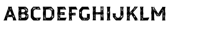 Dever Serif Print Bold Font UPPERCASE