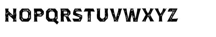 Dever Serif Print Bold Font LOWERCASE
