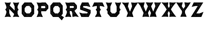Dever Wedge Halftone Bold Font UPPERCASE