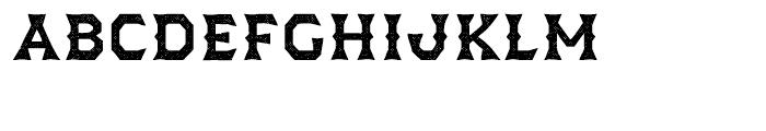 Dever Wedge Halftone Medium Font LOWERCASE