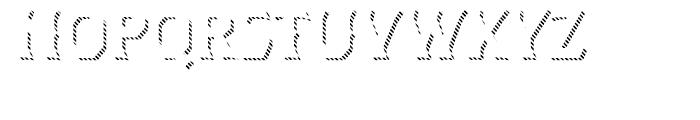 Dever Wedge Line Regular Font UPPERCASE