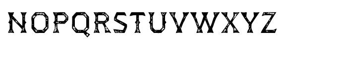Dever Wedge Print Regular Font LOWERCASE