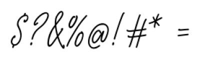 De Novembre Regular Font OTHER CHARS