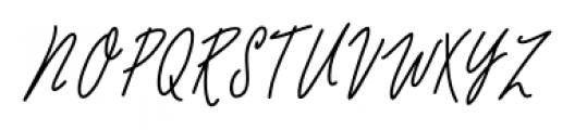 De Novembre Regular Font UPPERCASE