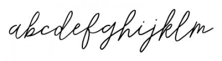 De Novembre Regular Font LOWERCASE