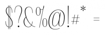 Delgado Sans Regular Font OTHER CHARS