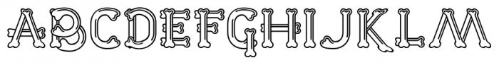 Dem Bones Regular Font UPPERCASE