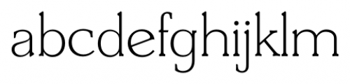 Derringer Serial Xlight Font LOWERCASE