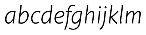 Deva Ideal Light Italic Font LOWERCASE