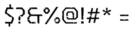 Dever Sans Rough Regular Font OTHER CHARS
