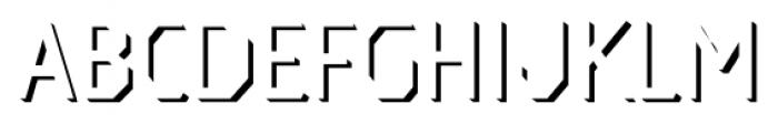 Dever Sans Shadow Light Font UPPERCASE