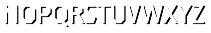 Dever Sans Shadow Light Font LOWERCASE