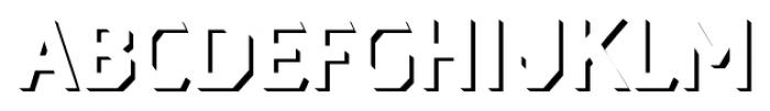 Dever Sans Shadow Medium Font UPPERCASE